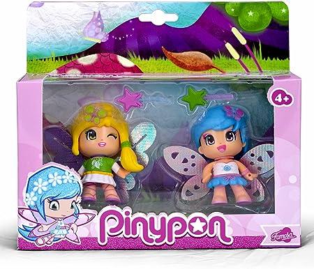 Para jugar al mundo mágico de las Hadas con Pinypon,Set de dos hadas de Pinypon,Incluye pequeños acc