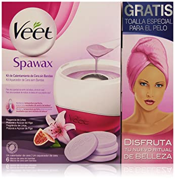 VEET DEP SPA WAX KIT AP+6 REC+TOALL