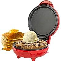 Giles & Posner® EK4215GVDEEU7 Compact Mini Snack Maker Grill - EU Plug   550 W   11.5 cm Plate   Red   Make Pancakes…