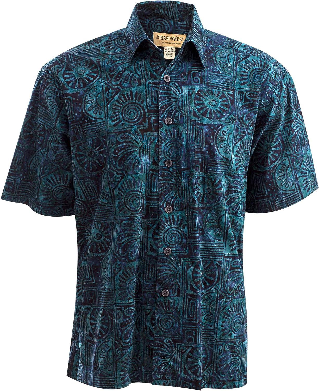 Johari West Antigua Summer Batik Hawaiian Shirt Tropical Cheap super special price Mail order cheap