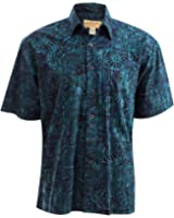 Indo Sapphire Tropical Cotton Shirt By Johari West