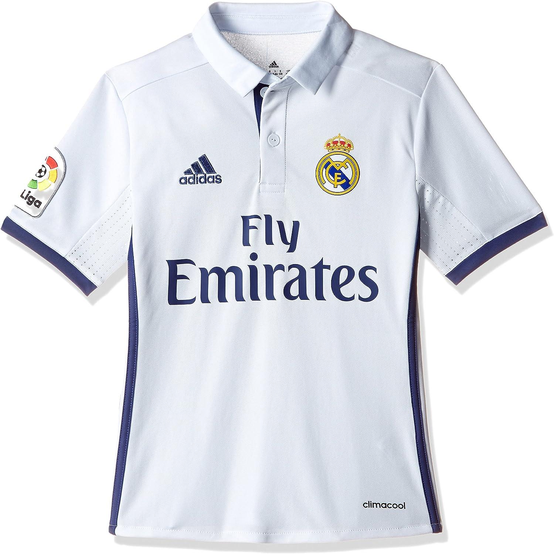 adidas Real Madrid H Jsy Y - Camiseta Real Madrid 2016/2017 para Niños: Amazon.es: Ropa y accesorios