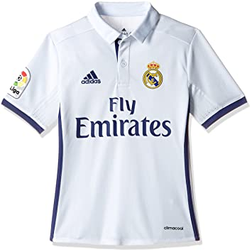 2ef2f6ec1 Adidas Boy s Real Madrid Home Jersey - Crystal White S16 Raw Purple S16