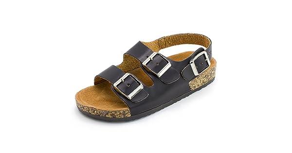 801404877864 Kali Girls Open Toe Buckle 2 Strap Ankle Hook Sandals