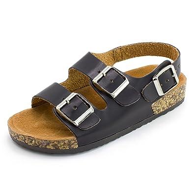 12c217aa159 Kali Girls Open Toe Buckle 2 Strap Ankle Hook Sandals