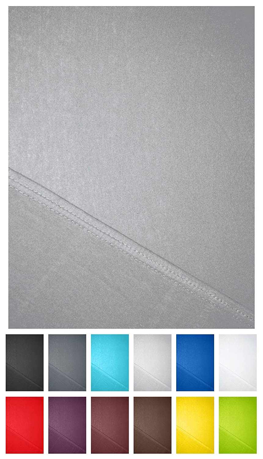 Microfibre Fitted Sheet in All Sizes and Many Colours, Microfibre, White, 90x200 - 100x200 cm Basatex