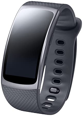 Samsung Gear Fit2 Montre Intelligente en élastomère Rectangulaire Lithium-ION Noir Aluminium Fibre de Verre
