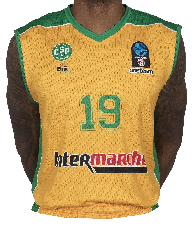 Bigsport Replica Hayes Eurocup Limoges CSP hogar–Camiseta de Baloncesto para niño, Niño, Color Amarillo, tamaño XL Niño tamaño XL BGSPT|#Bigsport CSPKH2017-1