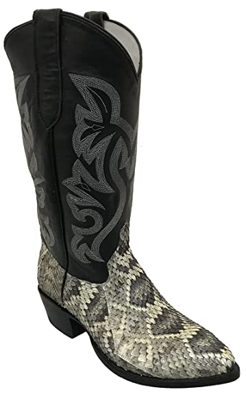 new arrival top-rated 2019 discount sale Cowtown Rattlesnake Pointed Toe Exotic Western Cowboy Boot