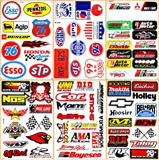 Motorsport Cars Nos Off-road Oil Nhra Drag Racing Lot 6 Graphic Vinyl Decals Stickers