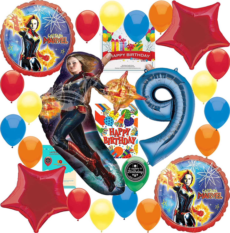 Amazon.com: Captain Marvel Party Supplies 9th Birthday ...