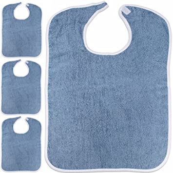 Bibs For Adults >> Amazon Com Adult Bibs 100 Cotton 3 Pack 18x30 Blue Health