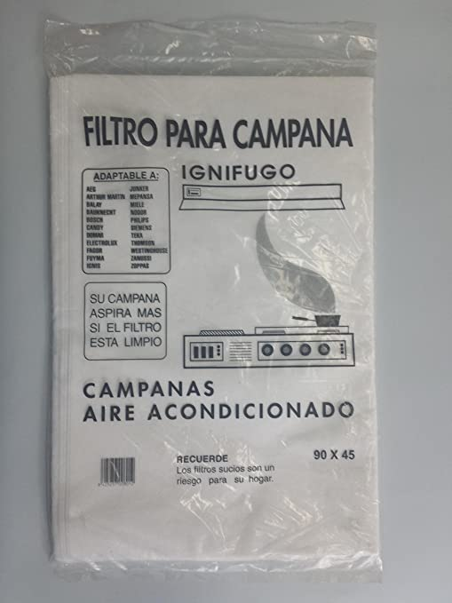 RECAMBIOS DREYMA Filtro Campana Extractor Papel 6 Unidades 90X45: Amazon.es: Hogar