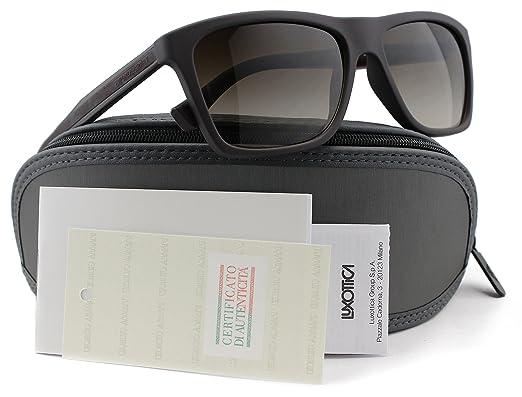 17d1a864fdc5 Emporio Armani EA4001 Men Sunglasses Brown Rubber w Brown Gradient (5064 13)