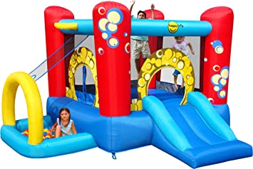 Happy Hop HappyHop 9214. Castillo Hinchable Bubble 4 en 1.: Amazon ...