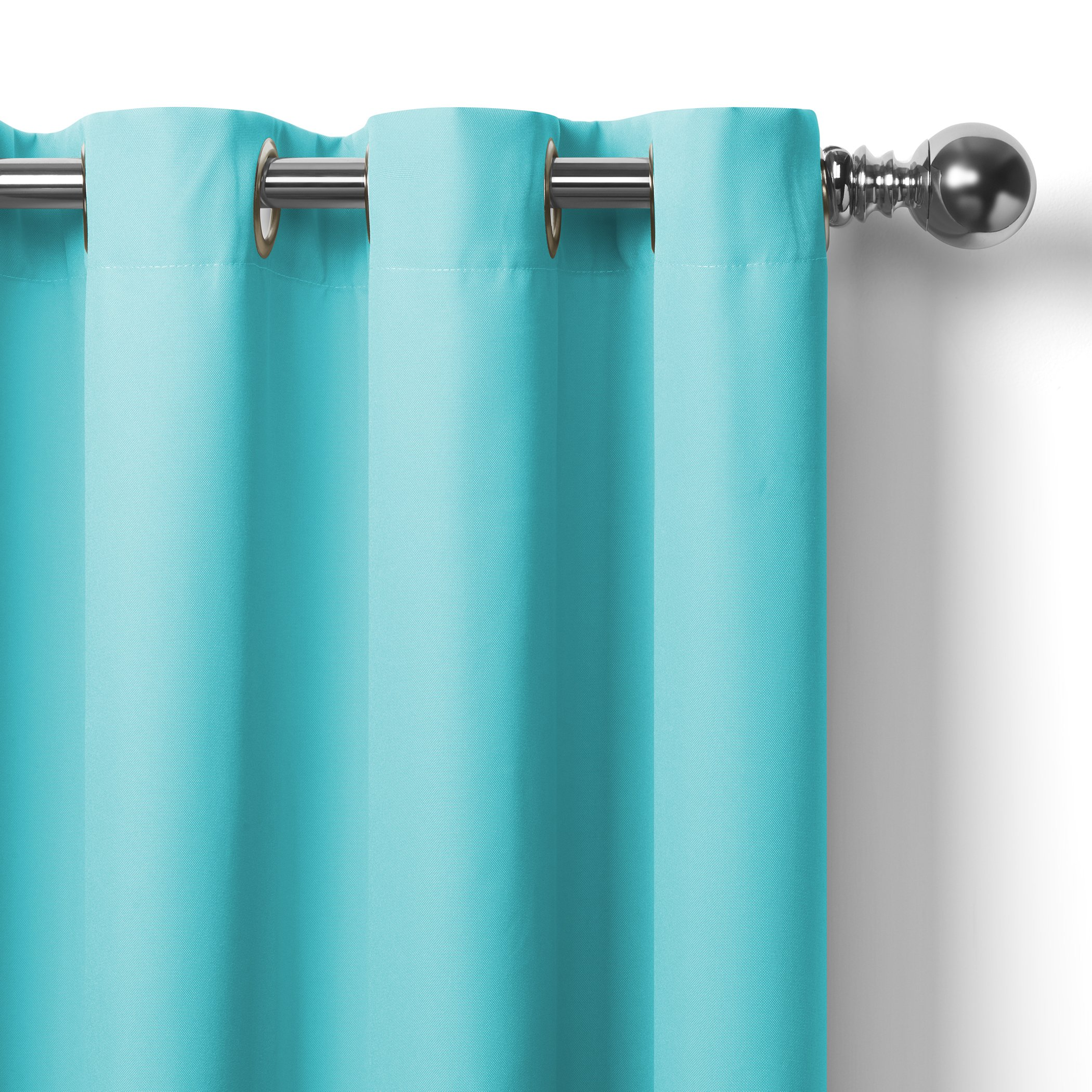 Elrene Home Fashions Connor Indoor/Outdoor Solid Grommet Panel Window Curtain 52'' x 108'' (1), Turquoise by Elrene (Image #6)
