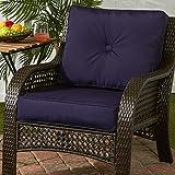 Greendale Home Fashions Outdoor Sunbrella Deep Seat Chair Cushion Set, Navy
