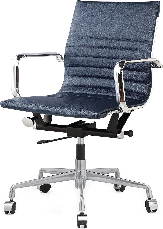 MEELANO M348 Home Office Chair, 33.93 x 23.4 x 22.23 , Navy Blue
