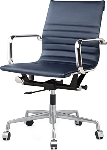 MEELANO M348 Home Office Chair, 33.93 x 23.4 x 22.23 , Navy Blue