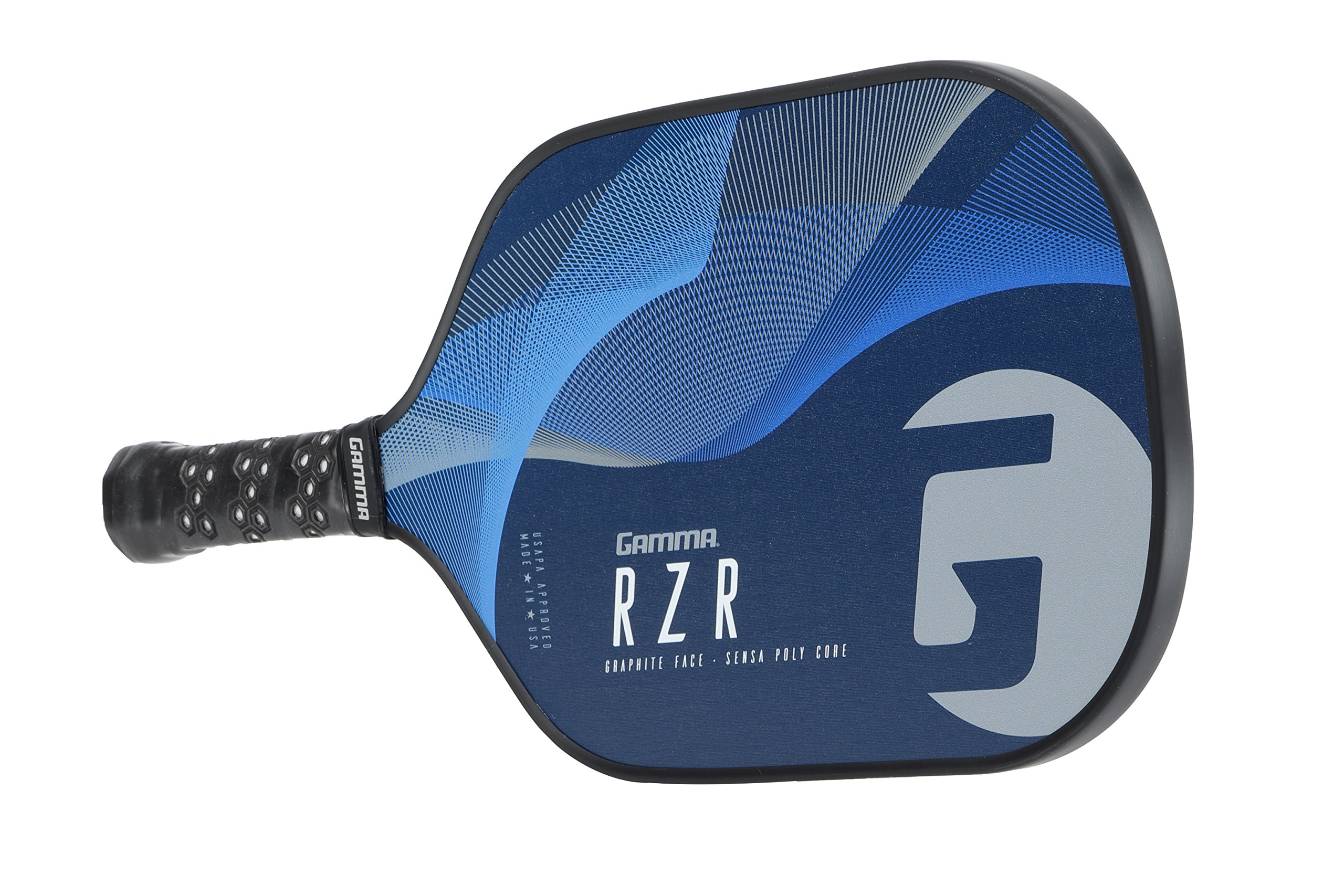 Gamma RZR Composite Pickleball Paddle: Pickle Ball Paddles for Indoor & Outdoor Play - USAPA Approved Racquet for Adults & Kids - Blue/Grey by Gamma (Image #6)