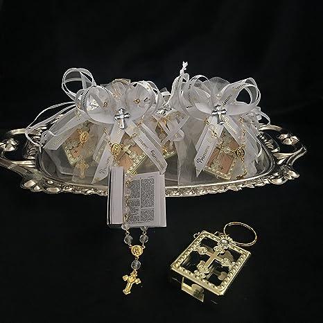 Mi Primera Comunion 12 Organza. Favor Bags Gift. Recuerdo de Primera comunion nino o nina. 12 Rosarios