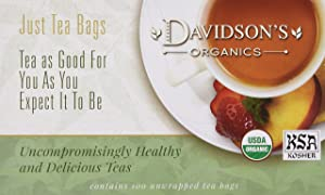 Davidson's Tea Decaf Wild Strawberry, 100-Count Tea Bags