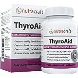 Integratore di supporto per la Tiroide - SODDISFATTI O RIMBORSATI & SPESE DI SPEDIZIONE GRATUITE - formula a base di erbe naturali per migliorare la funzione della tiroide con L-tirosina, Kelp (iodio), Ashwaganda (Withania), Selenio, B-12 e vitamina D come supporto di un metabolismo sano, riduce la fatica, Promuove la perdita di peso ed aumentare l'energia - 60 capsule