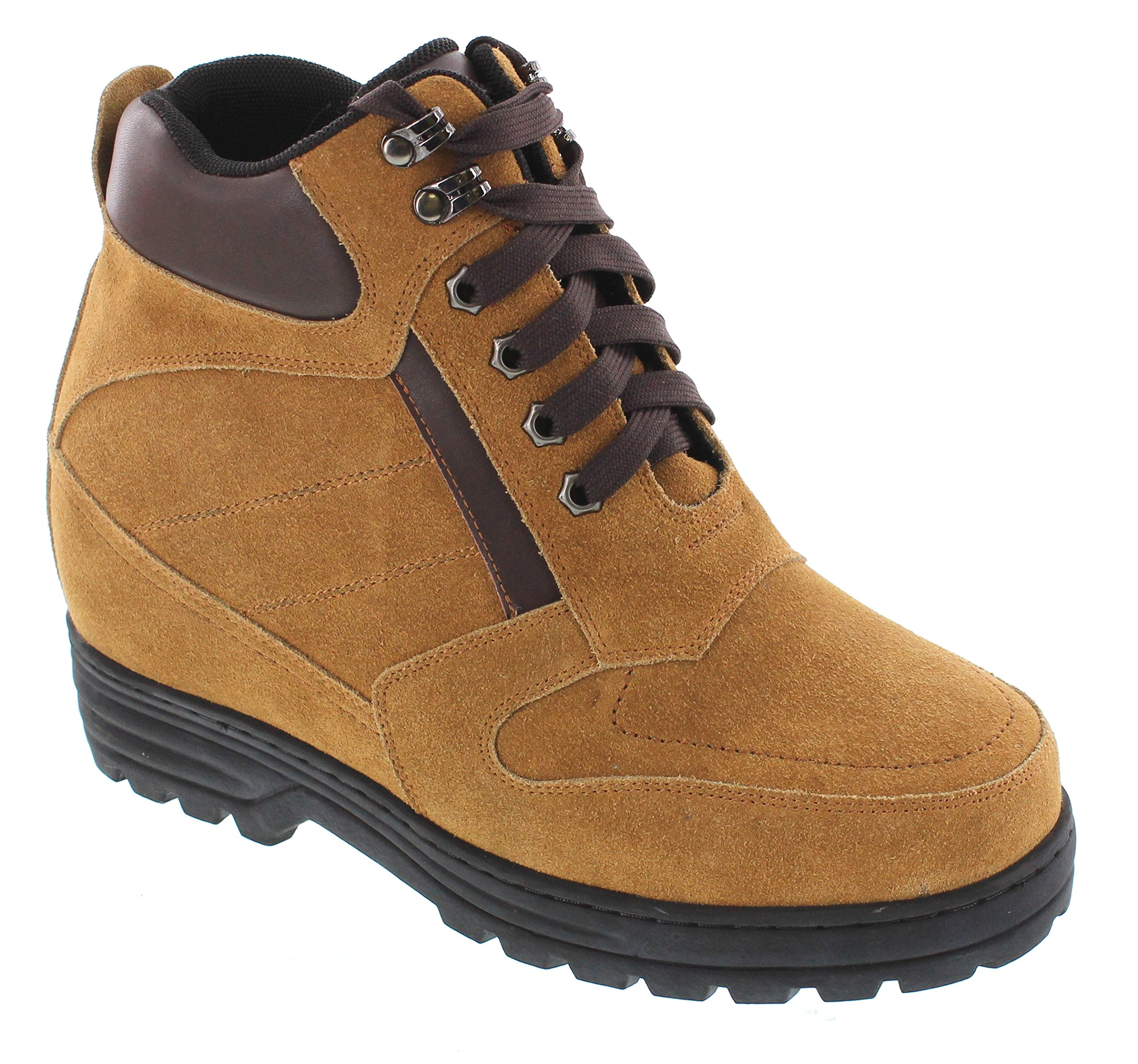 Calden - K881803-5.2 Inches Taller - Size 8 D US - Height Increasing Elevator Shoes (Brown Nubuck Boots)