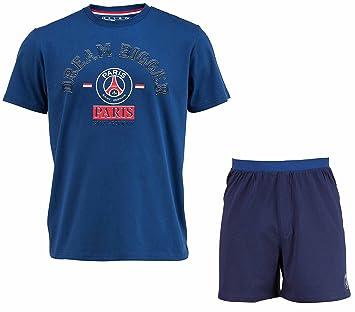 Camiseta y pantalón corto colección oficial PARIS SAINT GERMAIN, talla para adulto Azul azul Talla