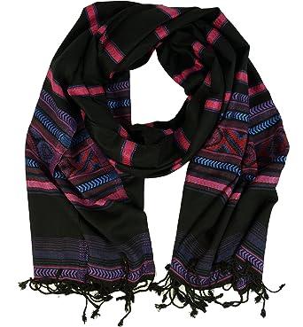Size:One Size Violett Guru-Shop Pashmina-Viskose Schal//Stola Inkaschal Synthetisch Schals Alternative Bekleidung Herren//Damen
