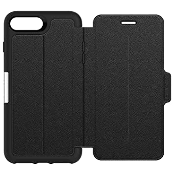 best sneakers c13b9 1b138 OtterBox Strada Series Premium Leather Folio Case for iPhone 7 Plus/8 Plus  - Black