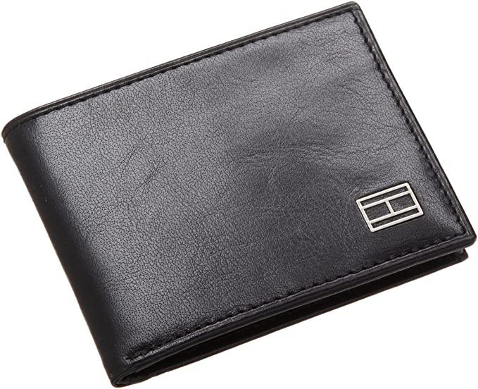 ed1a0a275df8 Tommy Hilfiger Men's Leather Slim Billfold Wallet