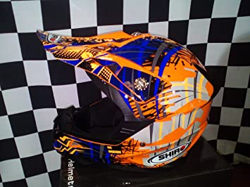 Casco Shiro MX-112 Fluor Orange KID - Talla YM