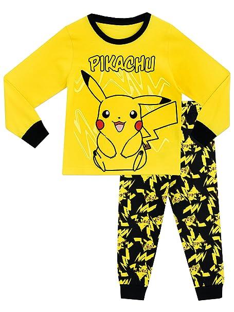 Pokemon - Pijama para Niños - Pikachu - 10 - 11 Años