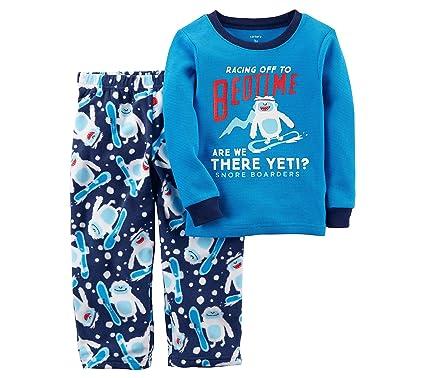 Carter s Boys  12M-14 2 Piece Racing to Bedtime Yeti Fleece Pajamas 4 2fb3d047a