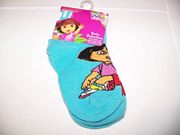 Dora the Explorer Ankle Sock ~ Size 4-6, Shoe Size 7-10