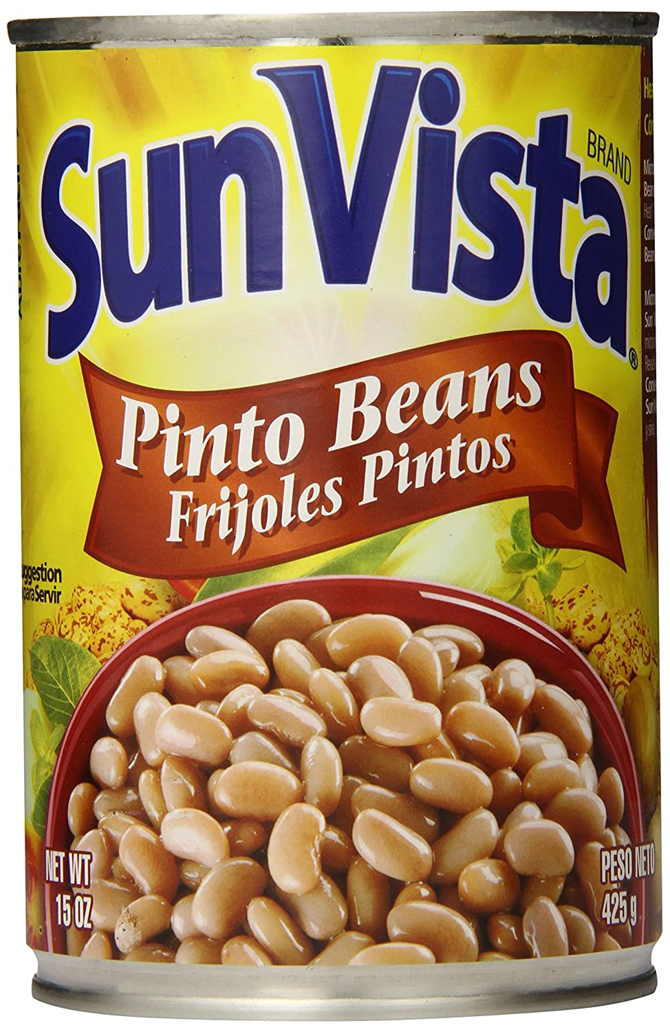 Amazon.com : Sun Vista Pinto Beans, Whole, 15 Ounce (Pack of 12) : Grocery & Gourmet Food