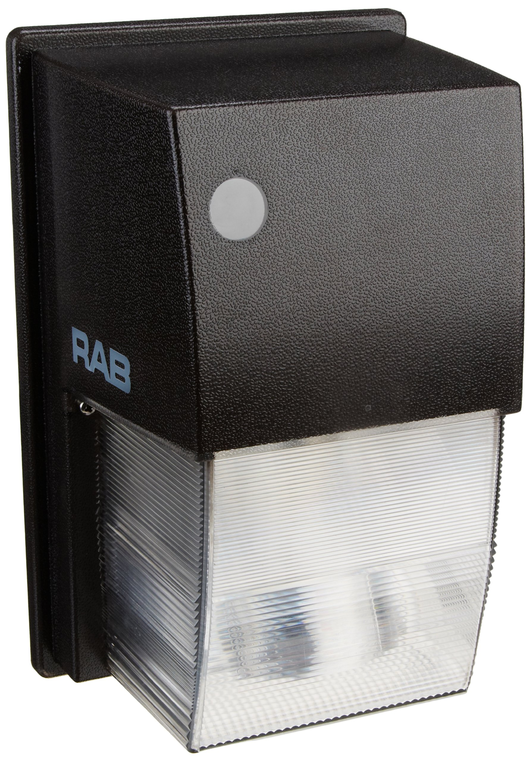 RAB Lighting WPTS50 Tallpack High Pressure Sodium Lamp with Polycarbonate Molded Refractor, ED17 Type, Aluminum, 50W Power, 4000 Lumens, 120V, Bronze Color