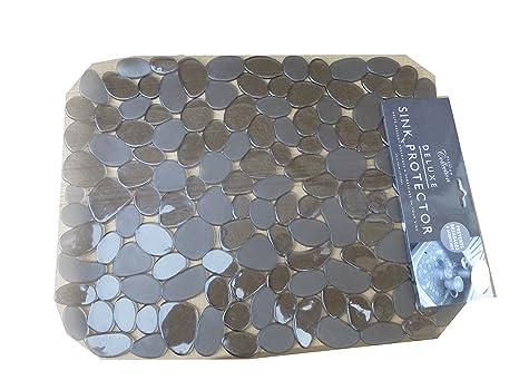 Alfombrilla para fregadero de cocina Deluxe con diseño de piedras.  Protector de PVC para proteger 302ab60b280c