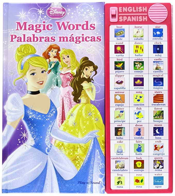 Amazon.com: Disney Magic Words (Palabras Magicas) - Learn Words in English and Spanish: Toys & Games