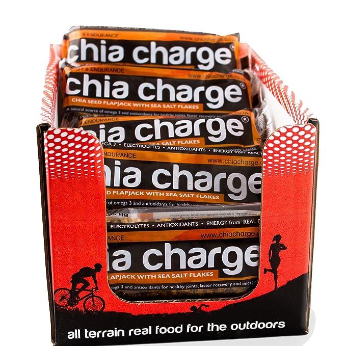 Chia Charge Flapjack sabor plátano (caja de 20): Amazon.es ...