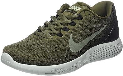 premium selection 98b12 3513d Nike Men s Lunarglide 9 Running Shoes, Green (Medium Olive Dark Stucco Black