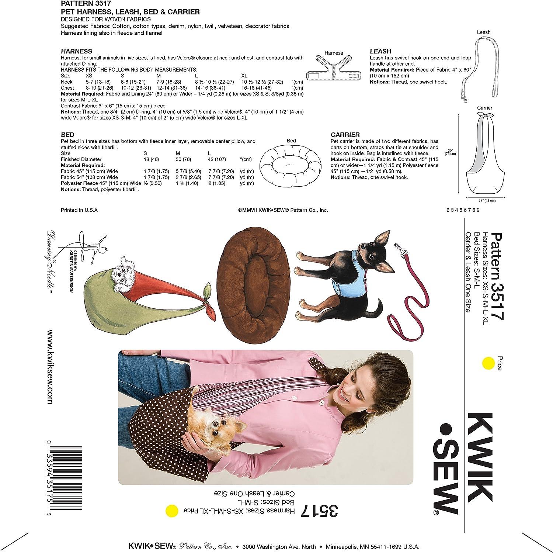 Kwik Sew K3517 Harness Sewing Pattern Leash