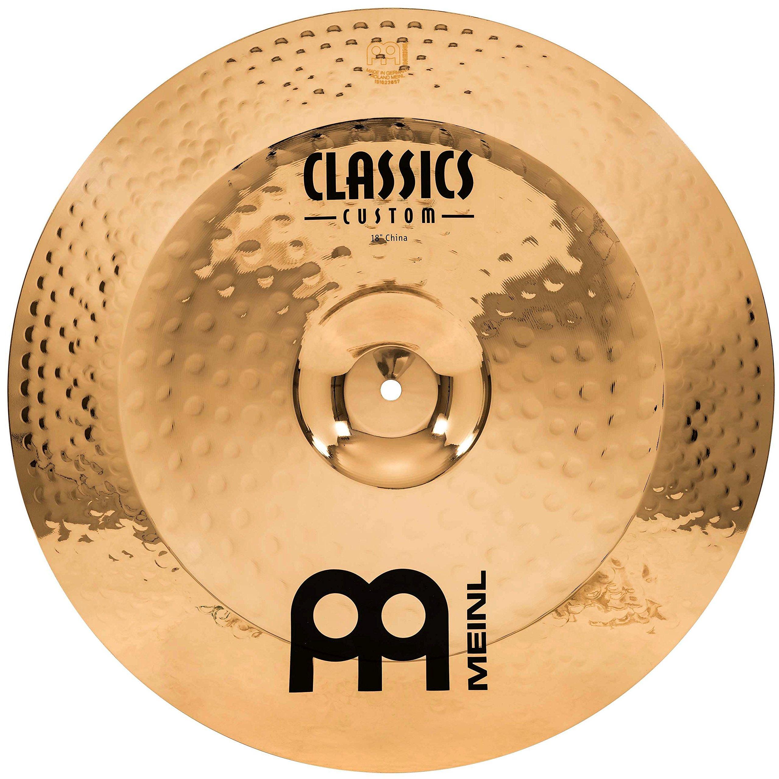 Meinl 18'' China Cymbal - Classics Custom Brilliant - Made In Germany, 2-YEAR WARRANTY (CC18CH-B)
