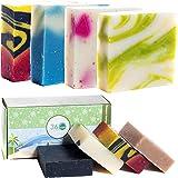 360Feel Assorted Handmade Soap bar-4 Large Bars- Womens Mens Romantic Anniversary Wedding Gift Set - Natural Organic…