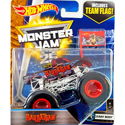 Hot Wheels Monster Jam Barbarian X-Ray Body Team Flag: Toys & Games