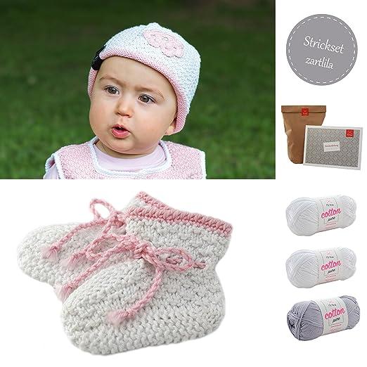 Babymütze Stricken Strickset Häkelset Baby Babyschuhe Mütze