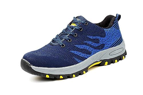 047903a9 Axcer Hombre Mujer Zapatillas de Seguridad con Puntera de Acero  Antideslizante Transpirable S3 Zapatos de Trabajo Comodas Calzado de  Trabajo ...