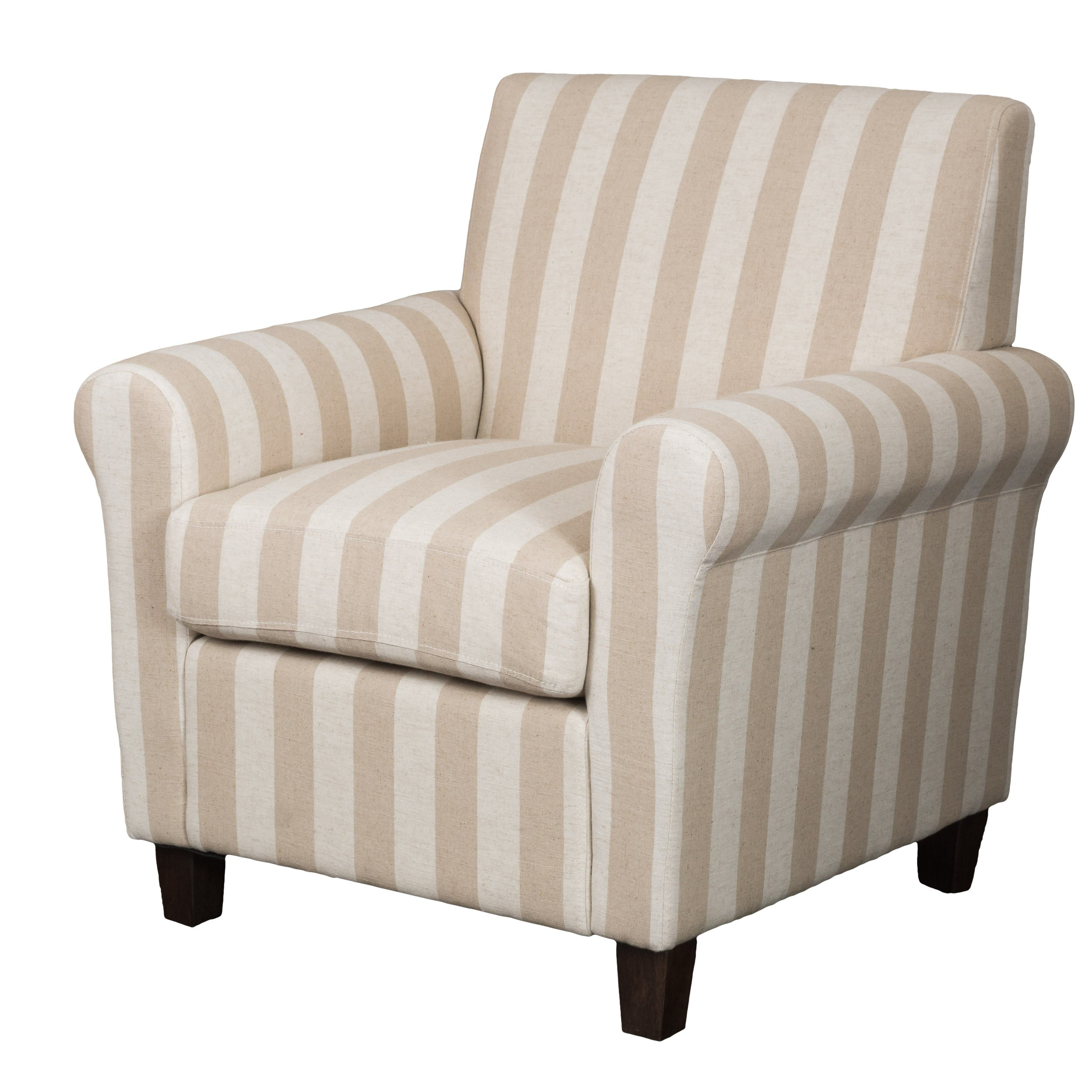 Christopher Knight Home 296299 Brunswick Stripe Fabric Club Chair, Cotton Linen by Christopher Knight Home