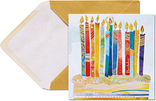 Paper Icon Candles Papyrus Happy Birthday